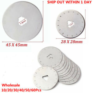 10x 28mm 45mm Rotary Cutter Replacement Blade Roller Cutter Blade Sewing Cutting