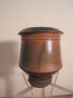 Céramique Vintage 70 Sublime Vase sur talon Grès Signé DJG Puisaye La Borne