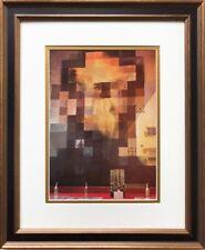 """Salvador Dali """"Abraham Lincoln"""" CUSTOM FRAMED ART Surreal Dalivision Back Nude"""