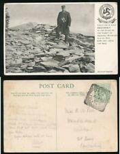 ISLE of MAN 1907 PPC MOUNTAIN SNAEFELL GUIDE EXCLUSIVE + PEEL SQ.CIRCLE VF PMK