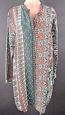 $258.00 NWT Johnny Was Tunic Dress Multi Color Blouse Beach Coverup XL Bohemian