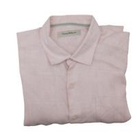 Tommy Bahama Men's XL Pink Button Front Linen Long Sleeve Shirt T35343