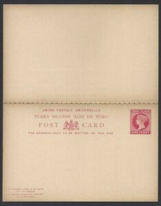 Turks Islands QV Queen Victoria postal stationery collection (3 items)