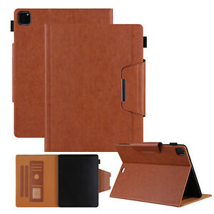 """For iPad Pro 11"""" 3rd/4th/5th 12.9"""" 6th/7th/8th Leather Case Wallet Stand Cover"""