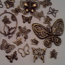 40pcs Assorted Antiqued Bronze Butterfly Charms Pendants DIY Jewelry Making