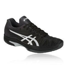 Asics Mens Gel-Solution Speed FF Tennis Shoes Black Sports Breathable Trainers