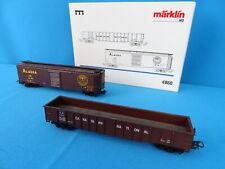 Marklin 4860 ALASKA USA Freight Car SET