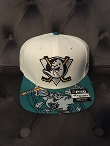Anaheim Mighty Ducks Hat Snapback White Fanatics Brand Special Edition