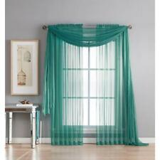 """Empire Home 216"""" Long Sheer Curtain Valance Window / Scarf Great Value 30 Colors"""