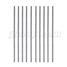 10pcs/Lot  HSS High Speed Steel  Silver Round Turning Rod Lathe Bars 2mm x 100mm
