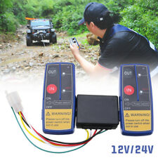 12V/24V Universal Electric Wireless Winch 2 Remote Control Switch For ATV Truck