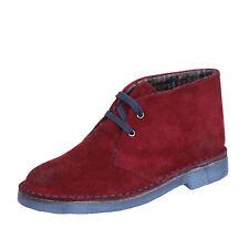 scarpe donna KEPS BY CORAF 38 EU polacchini bordeaux camoscio BX658-38
