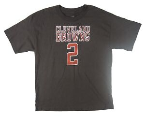 NFL - Defect Browns Johnny Manziel Name/Number Youth Brown T-Shirt - Youth L XL