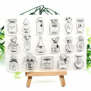 Perfume Bottle Transparent Silicone Stamps For DIY Scrapbooking Card Making