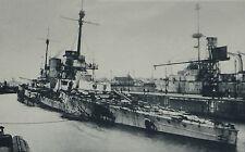 Jutland German Battleship Seydlitz Derfflinger Wilhelmshaven 1931 Photo Article