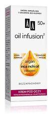 AA OCEANIC OIL INFUSION 50+ Argan, Inca & Inchi Oil, Collagen Eye Cream