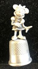 "Vintage Disney Pewter ""Minnie Mouse� Sewing Thimble"