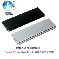 USB3.0 Hard disk Enclosure for 2010/11 MacBook Air 6+12pin Disassemble SSD