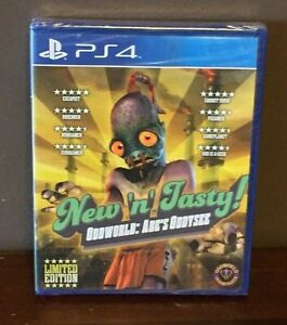 Oddworld: Abe's Oddysee New 'n' Tasty! Sony PlayStation 4 PS4 New Factory Sealed