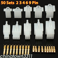 50 X Motorcycle Bike 2.8mm 2 3 4 6 9 Car Motor Electrical Connector Terminal Kit