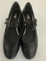 Women's Ecco Brown Leather Double Strap Mary Jane Heel Shoes Size 42 11 - 11.5
