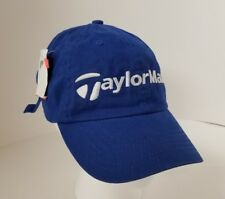 TaylorMade Golf Baseball Cap Trucker Hat Adjustable Blue Embroidered FREE SHIP