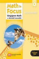 Grade K Math in Focus Assessments Book Kindergarten 2012 Edition Singapore