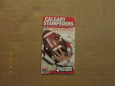 CFL Calgary Stampeders Vintage Circa 2006 Logo Football Pocket Schedule