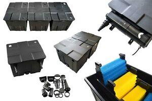 Bio Teichfilter Durchlauffilter 12.000/60.000/90.000 Liter optional UV-C Klärer