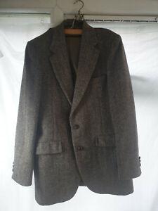 Harris Tweed Jacket 100% Wool hebrides Scotland Vintage 38 Reg Tailored in USA