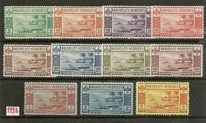 NEW HEBRIDES FRENCH 1938 DEFINITIVES TO 5F SGF53/F61 MNH