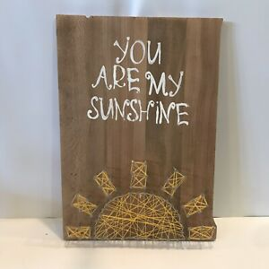 Handmade String Art You Are My Sunshine Mothers Day Love Sunny Solid Wood
