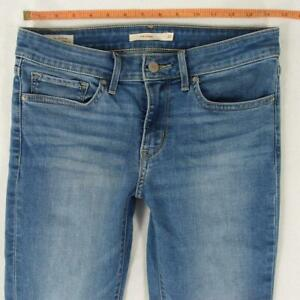 Ladies Womens Levi's 711 SKINNY Stretch Skinny Blue Jeans W28 L30 UK Size 8