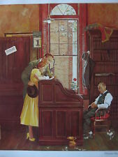 """""""The Marriage License"""" Norman Rockwell Limited Edition Lithograph Reproductions"""