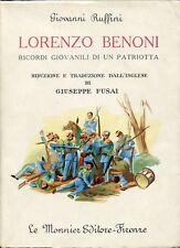 Giovanni Ruffini = LORENZO BENONI