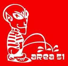 Alien Calvin Peeing Area 51 Window Sticker Decal