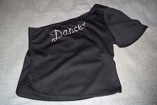 Dancer Balera Blouse One Shoulder Top Shirt with Glittery Rhinestones Medium USA