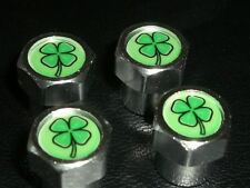 LUCKY IRISH IRELAND SHAMROCK BIKE & CAR TYRE VALVE CAPS