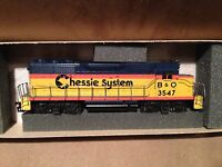 Athearn HO Scale Train Powered Engine Chessie System GP35 #4208 Rare