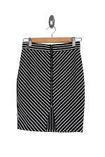 Paper Scissors Black and White Stretch Skirt Preloved - Size 8