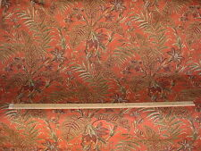 4+Y DURALEE SUNSET / AVOCADO GREEN TROPICAL LEAF DRAPERY UPHOLSTERY FABRIC