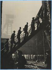 Travail de la Mine 7 Photos Noël Le Boyer Vigneau ea Vintage argentique c 1935