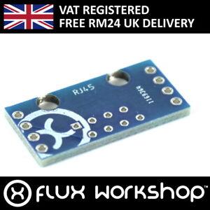 5pcs RJ-45 Ethernet Connector Breakout Board 2.54mm Prototype Flux Workshop