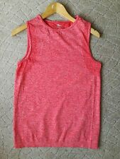 LADIES SPORTS TOP SIZE M FIT 10/12 SEAMLESS CORAL COLOUR WORN ONCE
