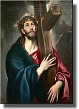 Jesus Christ Carrying the Cross by El Greco Wall Art Picture on Stretched Canvas