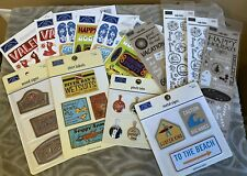 Lot Karen Foster Design Stickers Transfers Metal Fabric and Wood Embellishments