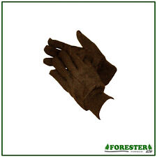 1 Pair Mens Brown Jersey Gloves Forester One Size Fits Most USA SELLER