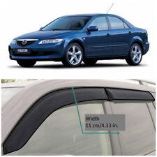 Wide Window Side Rain Visors Guard Vent Deflectors For Mazda 6 I Sd 2002-2007