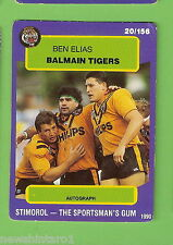 1990 RUGBY LEAGUE CARD #20  BEN ELIAS, BALMAIN TIGERS