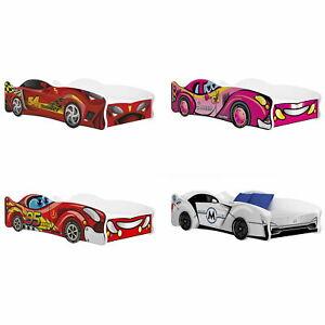 Kinderbett Autobett 80x160 cm Kinderzimmer modern Jugendbett Auto Car Varianten
